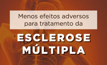 Menos efeitos adversos para tratamento da esclerose múltipla